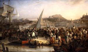 Beaume_-_Napoléon_Ier_quittant_l'île_d'Elbe_-_1836