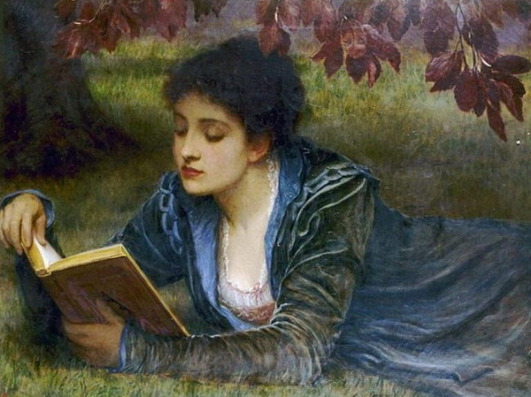 Perugini woman reading