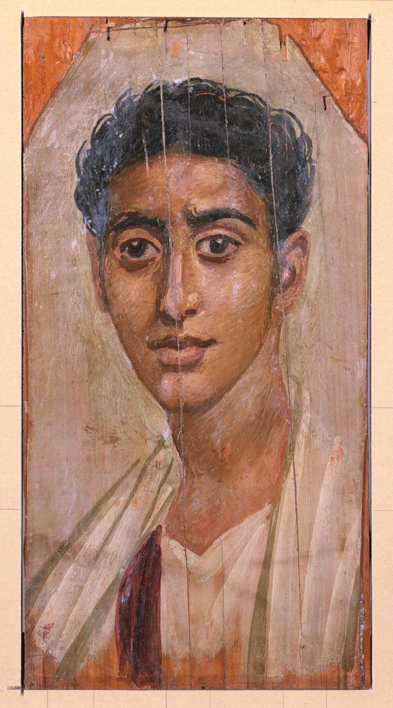 Egyptian_-_Mummy_Portrait_of_a_Man_-_Walters_323