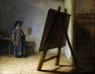 Rembrandt_Artist in his Studio