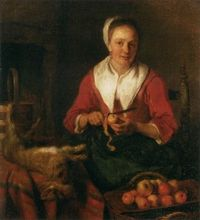 Wenches Gabriël_Metsu_-_Woman_Peeling_an_Apple_-_WGA15084-273x300