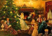Christmas tree and women