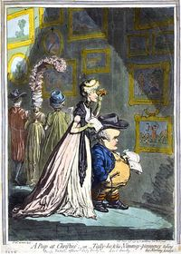 Wench Peep-at-Christies-Gillray