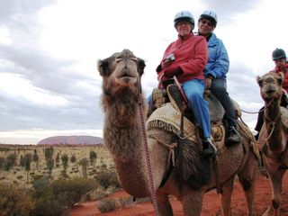 Jo,Barbara, Camel, Uluru, edited