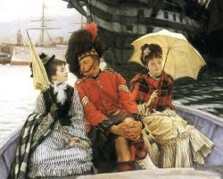P+Jacques-Joseph+Tissot+(1836-1902)+++Detail+Portsmouth+Dockyard-1