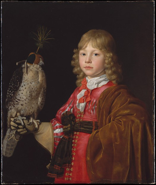 Boy with falcon the met