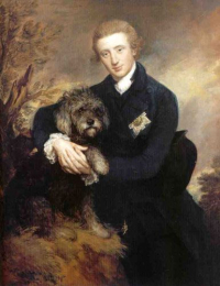 Duke of Buccleuch with his dog by Gainsborough 1770