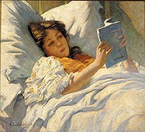 Woman reading - metcalf