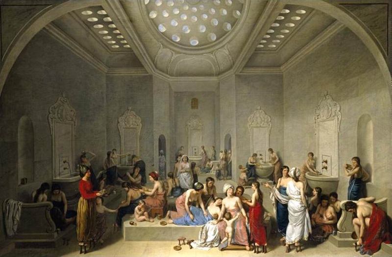 Jean-Jacques-Francois Lebarbier-A Female Turkish Bath or…1785