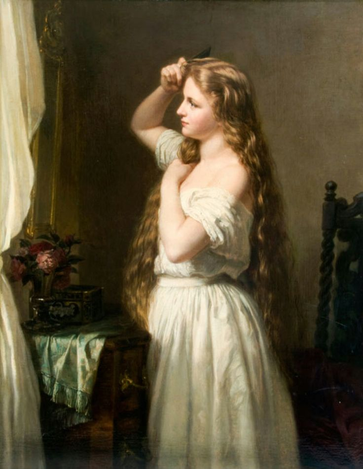 Jeune fille a sa toilette - Oskar Begas c19