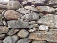NE stone wall