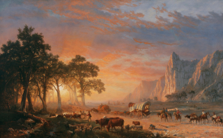 Emigrants_Crossing_the_Plains _or_The_Oregon_Trail_(Albert_Bierstadt) _1869