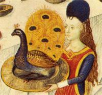 Roast peacock