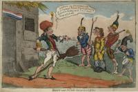 Satirical cartoon-Napoleon on Elba