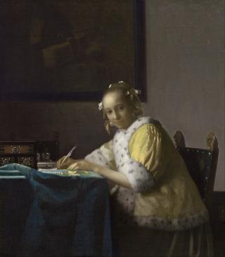 Vermeer lady writing nga