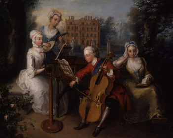 Frederick _Prince_of_Wales _and_his_sisters_by_Philip_Mercier