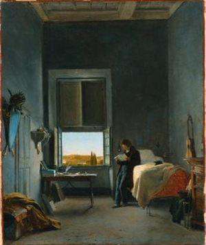 Wench the_artist_in_his_room_at_the_villa_medici _rome-cogniet 1817 copy