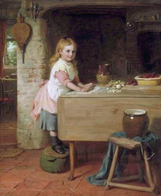 George Bernard O'Neill - Mother's Help