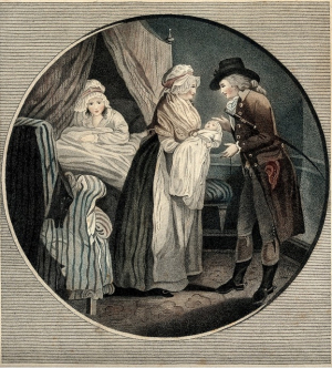 Wench mother given birth ca 1800 wellcome