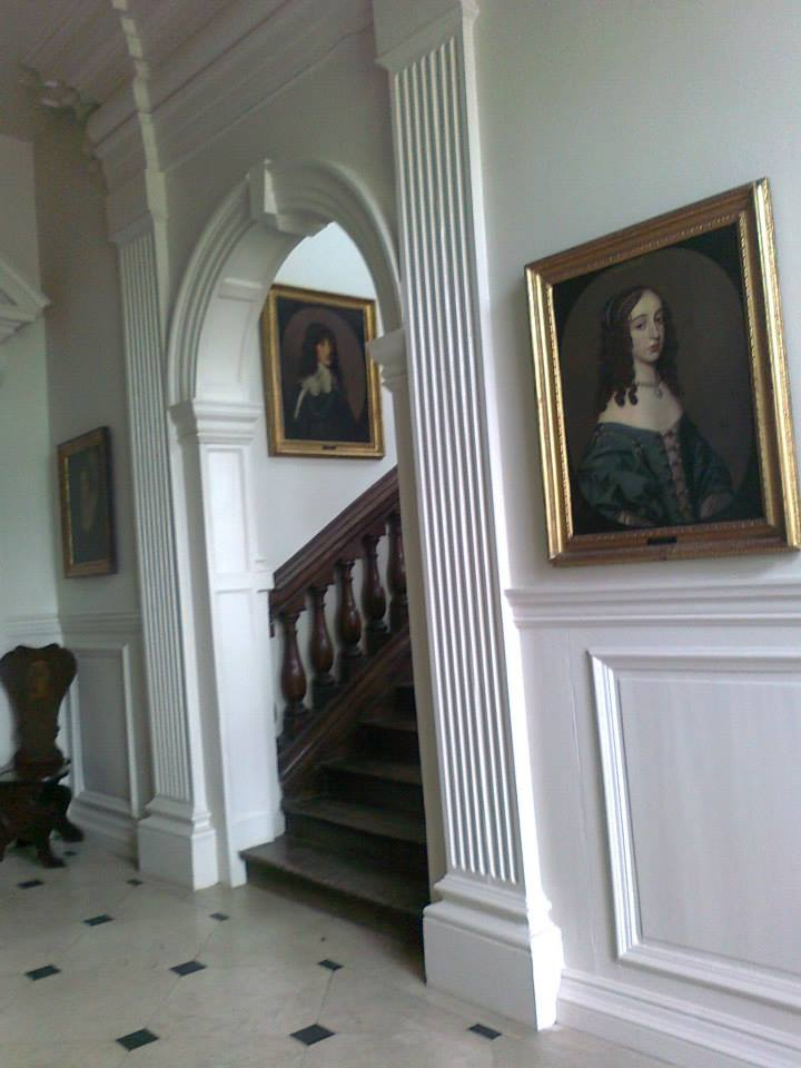 Entrance hall Ashdown House portrait P Mary daughter of Charles I