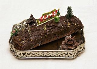 Bûche_de_Noël_chocolat_framboise_maison