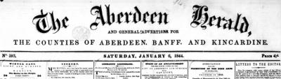 Aberdeen herald banner
