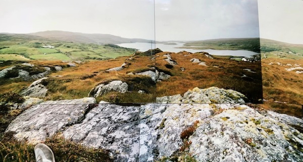 Wench of my foot in Connemara -- I had entered my David Hockney collage phase
