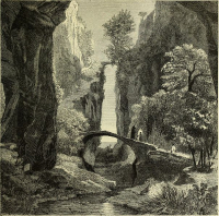 Gorge near Sorrento in Italy from the Alps to Mount Etna (1877)