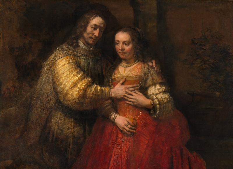 Rembrandt_Harmensz._van_Rijn_-_Portret_van_een_paar_als_oudtestamentische_figuren _genaamd_'Het_Joodse_bruidje'_-_Google_Art_Project