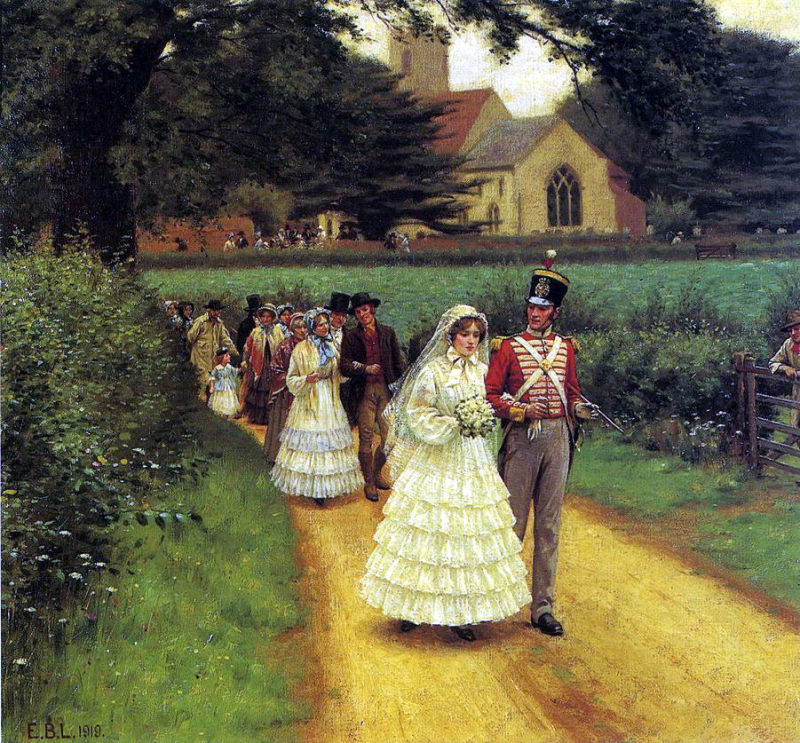 Wedding march edmund blair leighton