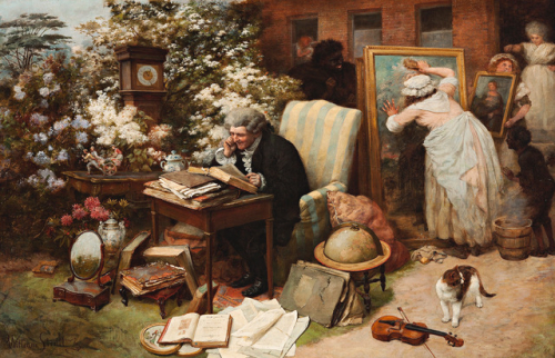 WILLIAM STRUTT  SPRING CLEANING  1892