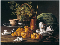 Wench Luis Meléndez Still Life with Bread and a Chocolate Set
