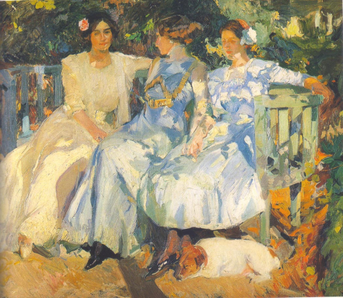 Joaquin_Sorolla_My_Wife_and_Daughters_in_the_Garden