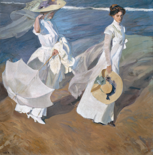 Joaquín_Sorolla_y_Bastida_-_Strolling_along_the_Seashore_-_Google_Art_Project
