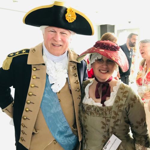 Susanna and Vern Frykholm Jr as George Washington HNS 2019