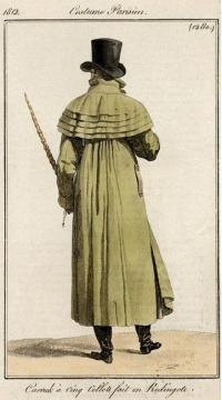 Carrick coat or coachmans coat 1812