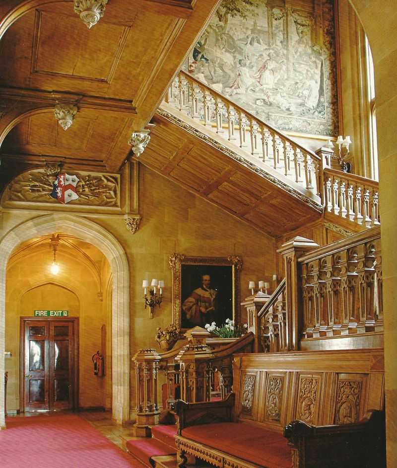 The oak stairs