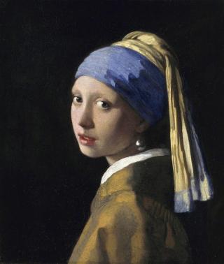 Girl w pearl ultramarine lapis blue