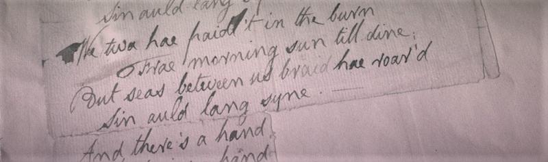Burns ms auld lang syne