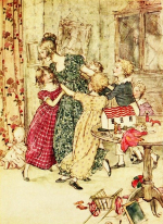 Wench victorian christmas rackham