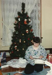 Susanna and the plate Christmas 1993 2