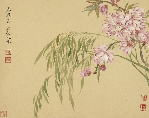 Chinese painting spring
