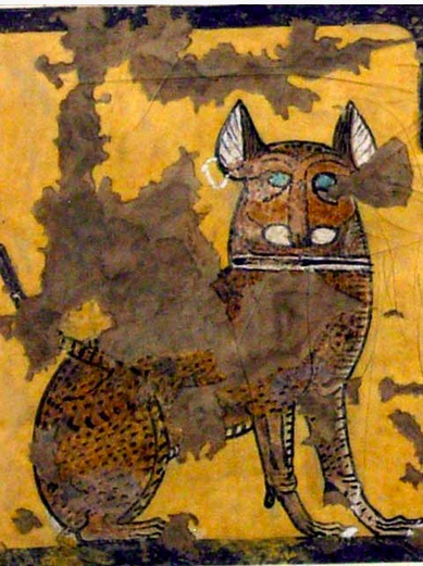 Cat Seated under a Chair  Tomb of Ipuy ca. 1295–1213 B.C.