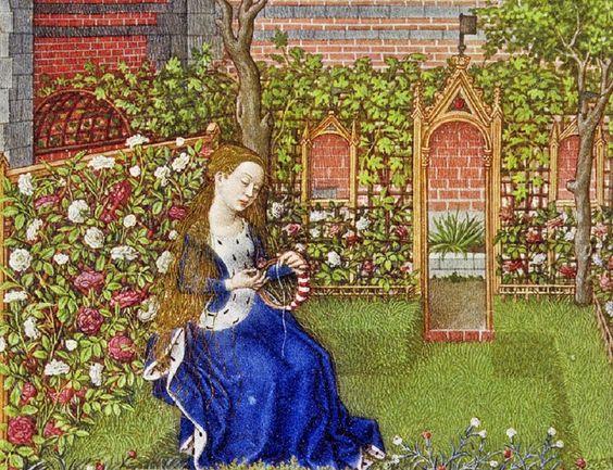 April flowers medieval garden 15 c