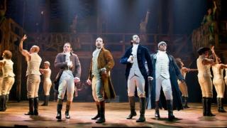 Hamilton onstage