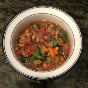 Bean-quinoa soup