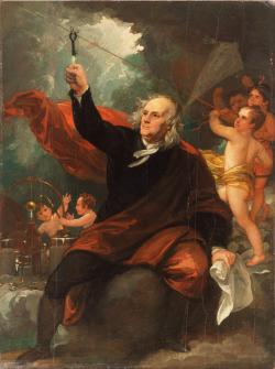 Ww Benjamin franklin by Benjamin_West _English_c 1835
