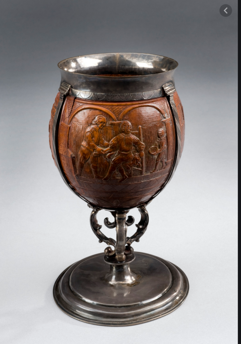 Coconut goblet mounted in silver  York  England  1671-1700