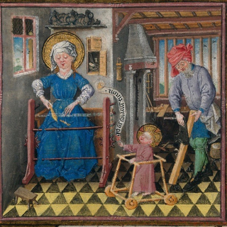 Hrs catherine of cleves holy family 15th c