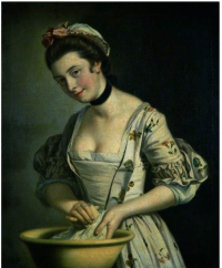 Morland  Lady's Maid Soaping Linen